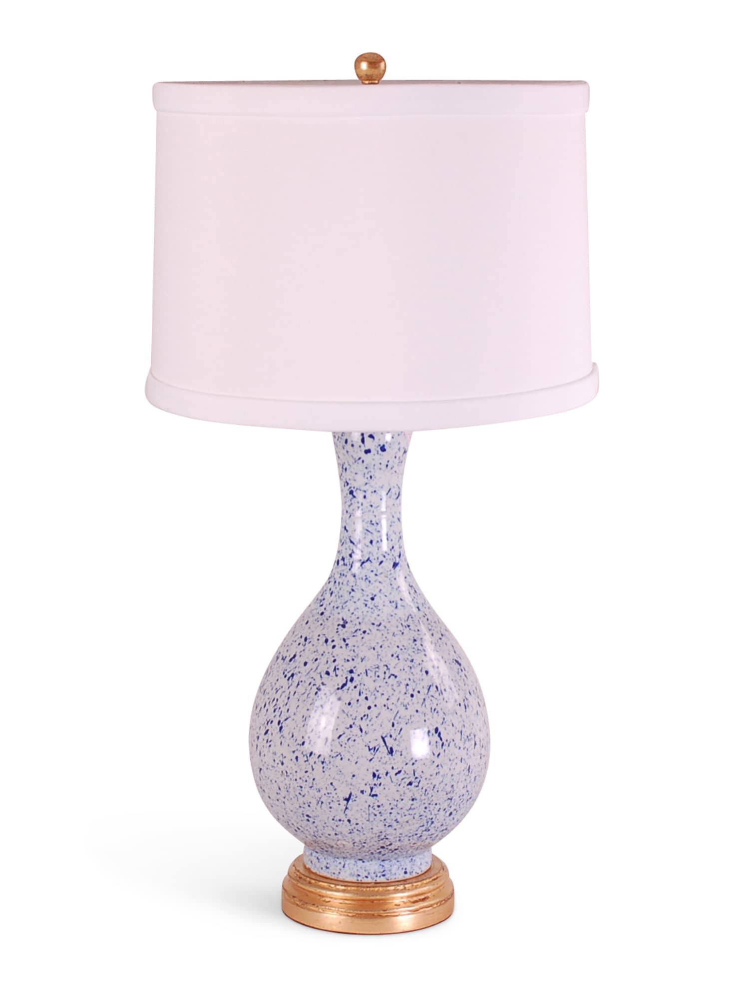 Light Blue Splatterware Gourd Lamp